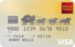 Picture of the Wells Fargo Cash Back College Visa Card front