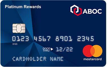 Picture of the ABOC Platinum Rewards MasterCard Credit Card front