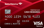 Picture of the BankAmericard Cash Rewards Credit Card front