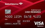 Picture of the BankAmericard Cash Rewards Credit Card front