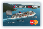 Picture of the Carnival Cruises Credit Card front