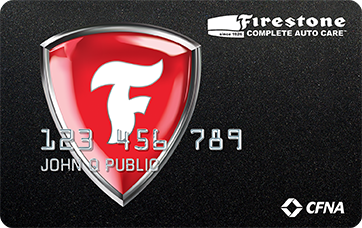 Picture of the Firestone Credit Card front