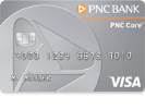 Picture of the PNC Core Visa Credit Card front