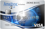 Picture of the Zions AmaZing Cash Back Business Credit Card front