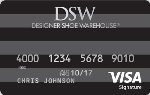 Picture of the DSW Credit Card front