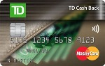 Picture of the TD Cash Back Mastercard front