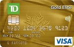 Picture of the TD Gold Elite Visa Card front