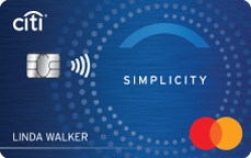 Picture of the Citibank Simplicity Credit Card front