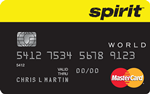 Picture of the Spirit Airlines MasterCard Credit Card front