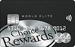 Picture of the Affinity Credit Union Choice Rewards World Elite Mastercard front