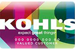 Picture of the Kohl's Credit Card front