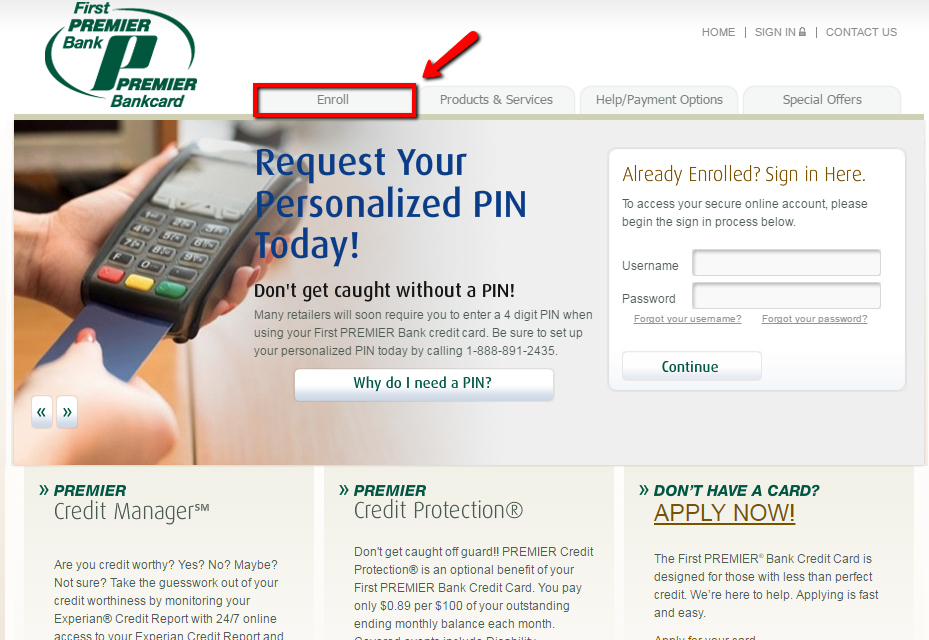 First Premier Bank Card Pin Number