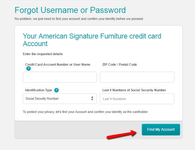 American Signature Furniture Credit Card Login | Make a Payment - CreditSpot