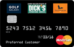 Picture of the Dick's Sporting Goods Credit Card front