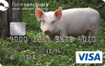 Picture of the Farm Sanctuary Credit Card front