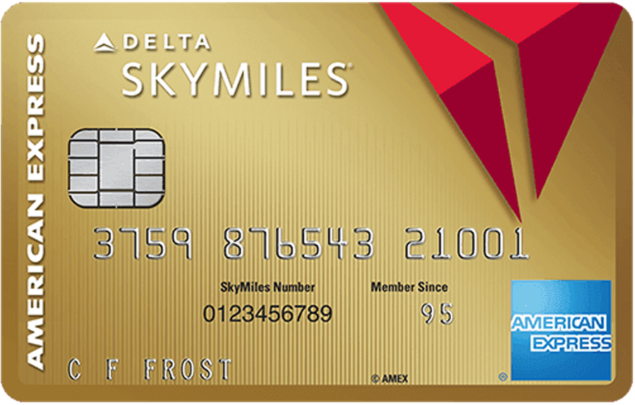 Picture of the Gold Delta SkyMiles® Business Credit Card front