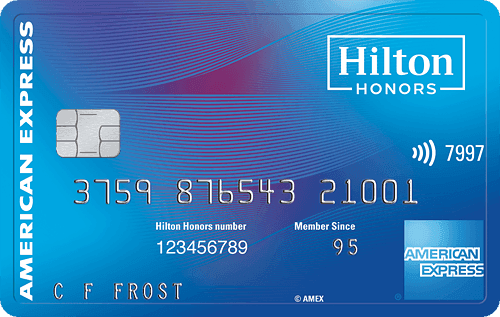 Picture of the Hilton Honors American Express Card front