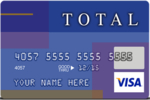 Picture of the Total Visa Unsecured Credit Card front
