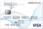Picture of the Zions AmaZing Rate Business Credit Card front