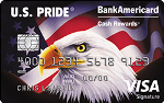Picture of the U.S. Pride BankAmericard Credit Card front