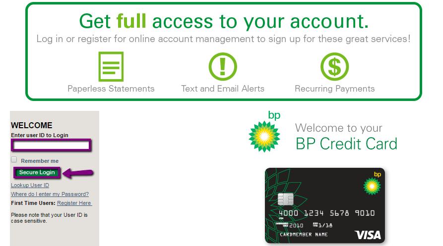 Visa Credit Card Login >> Bp Visa Credit Card Login Make A Payment Creditspot