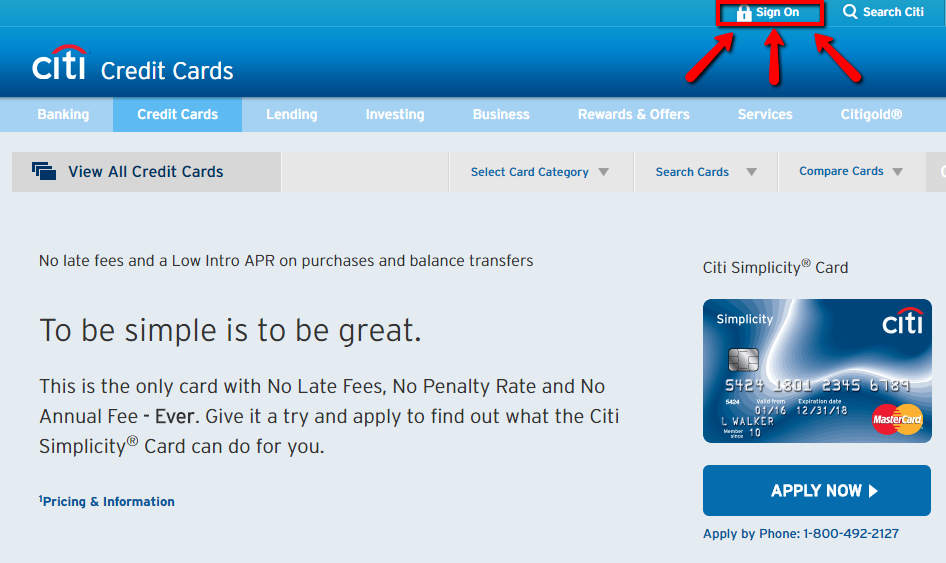 Citibank Credit Card Payment Online >> Citibank Simplicity Credit Card Login | Make a Payment - 💳 CreditSpot