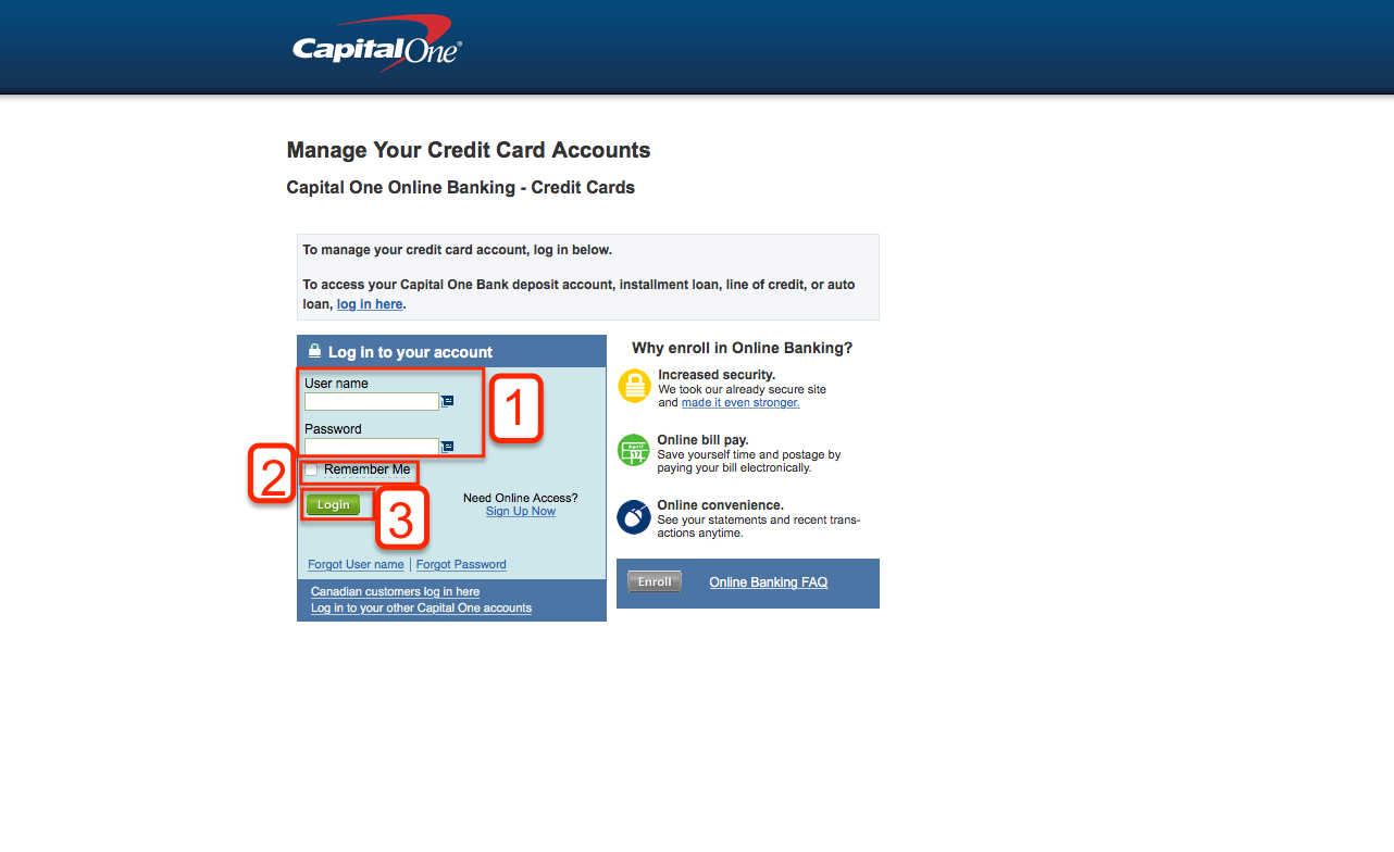Capital one online payment credit card