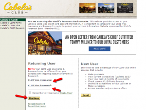 Cabela's Club Visa Credit Card Login | Make a Payment ...