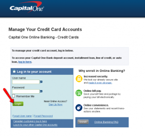 Make online payment capital one credit card
