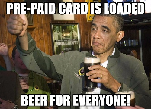 pre paid card is loaded meme