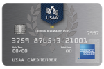 Picture of the USAA Cash Rewards American Express Credit Card front