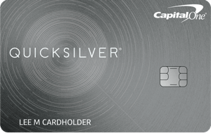 Picture of the Capital One® Quicksilver® Cash Rewards Credit Card front