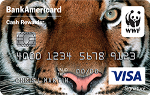 Picture of the World Wildlife Fund BankAmericard Credit Card front