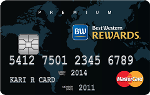 Picture of the Best Western Rewards MasterCard front