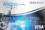 Picture of the Zions AmaZing Rewards Business Credit Card front