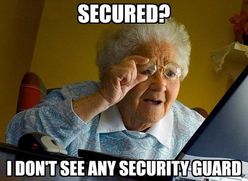 Secured credit card meme