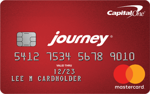 Picture of the Journey® Student Credit Card from Capital One® front
