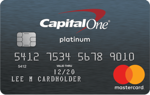 Picture of the Platinum Credit Card from Capital One® front