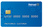 Picture of the Walmart Credit Card front