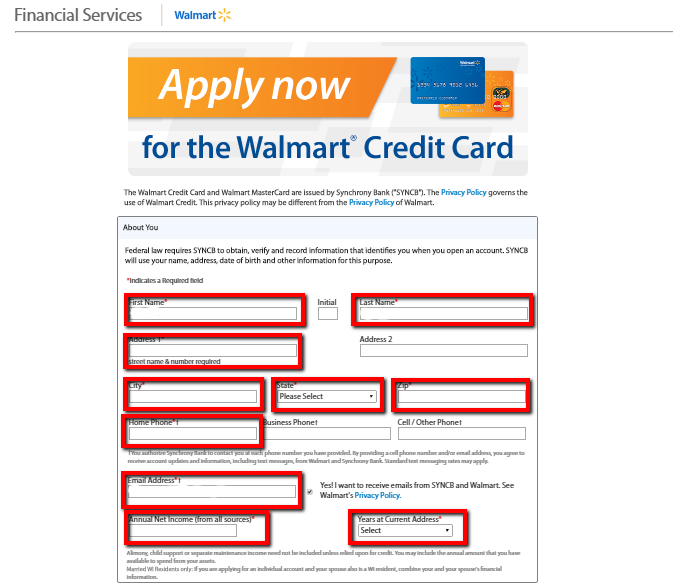 How To Apply To Walmart Credit Card