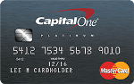 Picture of the Capital One Platinum Credit Card front